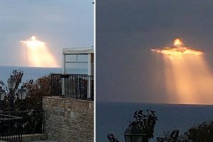 Guy Captures Photo of Glowing 'Angel' in the Clouds Near Italy