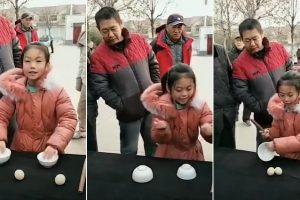Adorable Chinese Girl with Awesome Street Magic Gets 1.5 Million Followers