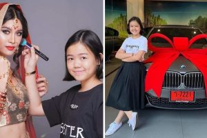 12-Year-Old Girl Buys BMW after Becoming a Successful Makeup Artist