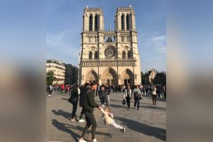 Dad and Daughter Dancing in Front of Notre Dame Cathedral Just Moments Before Fire