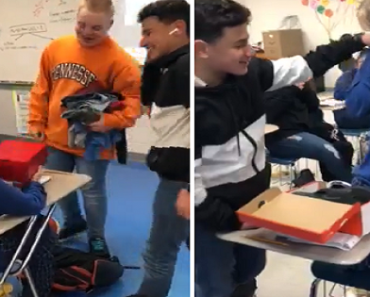 Video Shows Emotional Moment Classmates Give Gift to Student Experiencing Tough Times