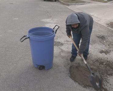 12-Year-Old Kid Goes Viral for Filling Potholes at Michigan Public Road