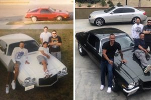 Friends Recreate Photo with the Same Car from 30 Years Ago