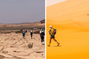 Stray Dog Joins 140-Mile Ultramarathon Race Across the Moroccan Desert, Gets a Medal