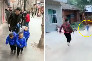 Hilarious Video of Adorable Triplets Always Giving Their Parents a Difficult Time Goes Viral