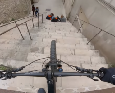 'Urban' Biker's Impressive Downhill Trip Goes Viral after Nearly Crashing into Students