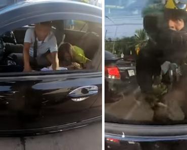 Biker Hailed a Hero for Saving Girl having Epileptic Fit in Heavy Traffic