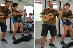 'Begpackers' Performing on Board Train in Singapore Draws Backlash from Netizens
