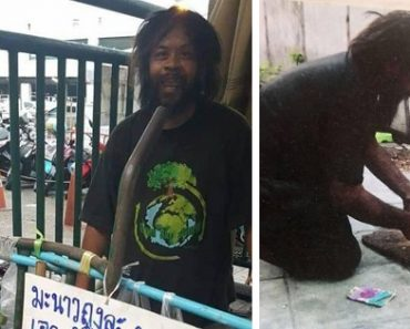 Homeless Man Praised for Selling Lime to Earn Money for Stray Cats' Food