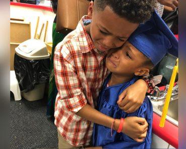 Adorable Photo of Crying Boy at Sister's Preschool Graduation Warms Hearts