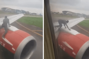 Flight Gets Delayed after a Man Tries to Hitch a Ride on the Wing
