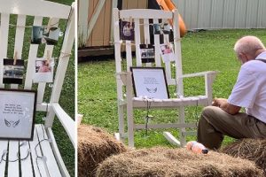 Old Man Goes Viral for Eating by Late Wife's Memorial at Granddaughter's Wedding