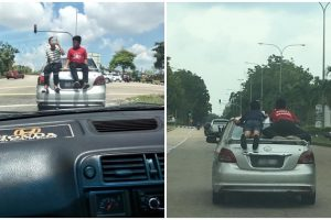 Parents Let Kids Ride on Car Roof While Speeding, Running Red Lights