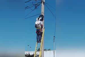 Photo of Lineman Wearing Fairy Wings Given by Daughter Goes Viral