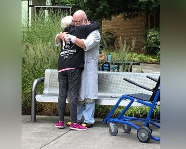 Emotional Moment Couple Meet at Hospital Garden While Undergoing Separate Treatments