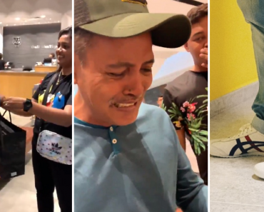 Family Surprises Dad with Shoes He's Always Wanted, Video Goes Viral