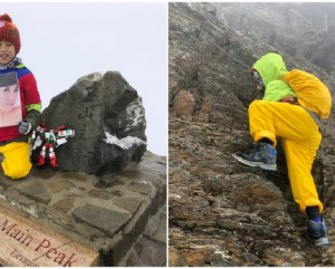 8-Year-Old Boy Brings Late Mom's Portrait to Taiwan's Highest Peak to Fulfill Last Wish
