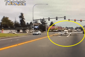 Dramatic Video of Malfunctioning Airplane Landing on the Highway Goes Viral
