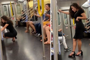 Video of 'Subway Bae' Goes Viral for Selfie Picture in Busy New York Train