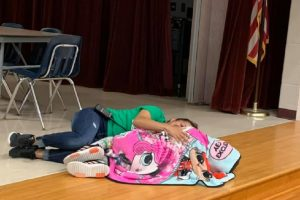 School Custodian Goes Viral for Special Way of Comforting a Student Having a Rough Day