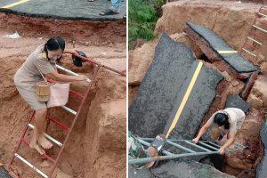 Dedicated Teacher Who Crossed Road Destroyed by Landslide Goes Viral