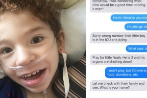 Wrong Sent Text Message Leads to Unexpected Act of Kindness for Kid in ICU