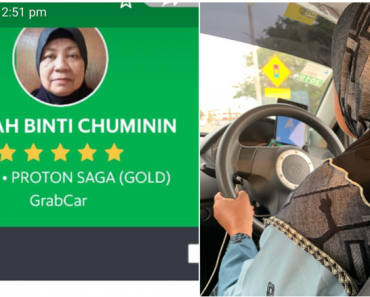Malaysian Grandma Drives a GrabCar to Support Sick Husband, Mentally Ill Son