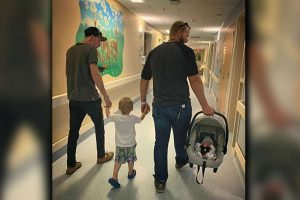 Woman Shares Sweet Photo of Fiancé with Her Ex-Partner, Sharing Parenting Duties
