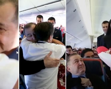 Airline Pilots Surprise Teacher Who Treated Them as His Own Children