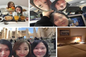 After Failed Plans, Woman Goes to Europe with Cutouts of BFFs' Faces