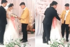 Bride and Ex-BF Cry Hard at Wedding, Groom Calmly Watches Them Without Anger
