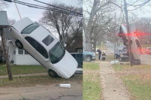 Gravity-Defying Photos of a Car Crash Amaze Netizens, Spark Jokes on Social Media