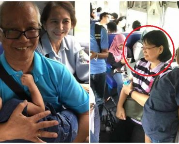 Kind Woman Offers Seat to Couple Struggling with Child in Crowded Train, Dad Carries the Baby