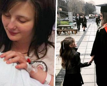 Asked to Leave School after Getting Pregnant at 14, Mom Graduates College While Holding Daughter's Hand