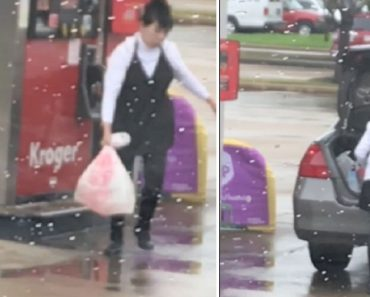 Bizarre Video Catches Woman Pumping Petrol in Huge Plastic Bag, Putting it in Trunk