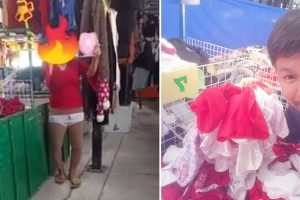 Woman Goes Viral for Trying Underwear at Sidewalk, Vendor Gives Her 100 Pieces as Thanks