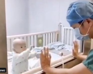 Video of nCov-Infected Baby Who Wants Hug from Dad Breaks Netizens' Hearts