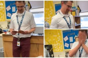 Kids Surprise Teacher with New Pair of Shoes after His was Taken from Classroom