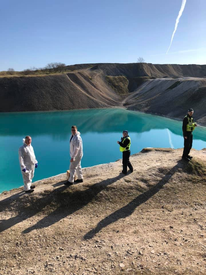 police dye blue lagoon