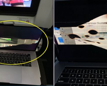 Passengers' MacBook Screen Destroyed after Person in Front Reclined Seat