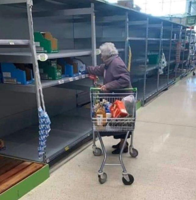 hoarding groceries