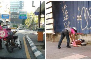 FoodPanda Driver Goes Viral for Giving Food to Sleeping Homeless Man