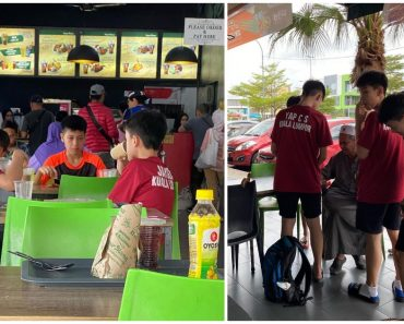 Boy Cries after Seeing Beggar, Friends Contribute to Buy Food and Give Old Man Money