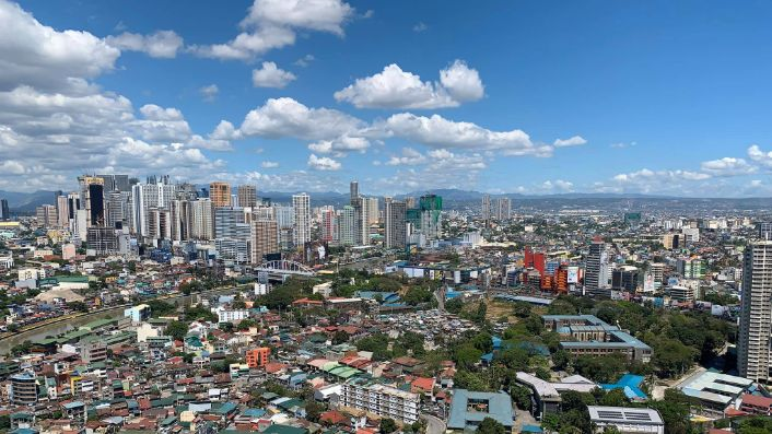 Clear skies over Metro Manila