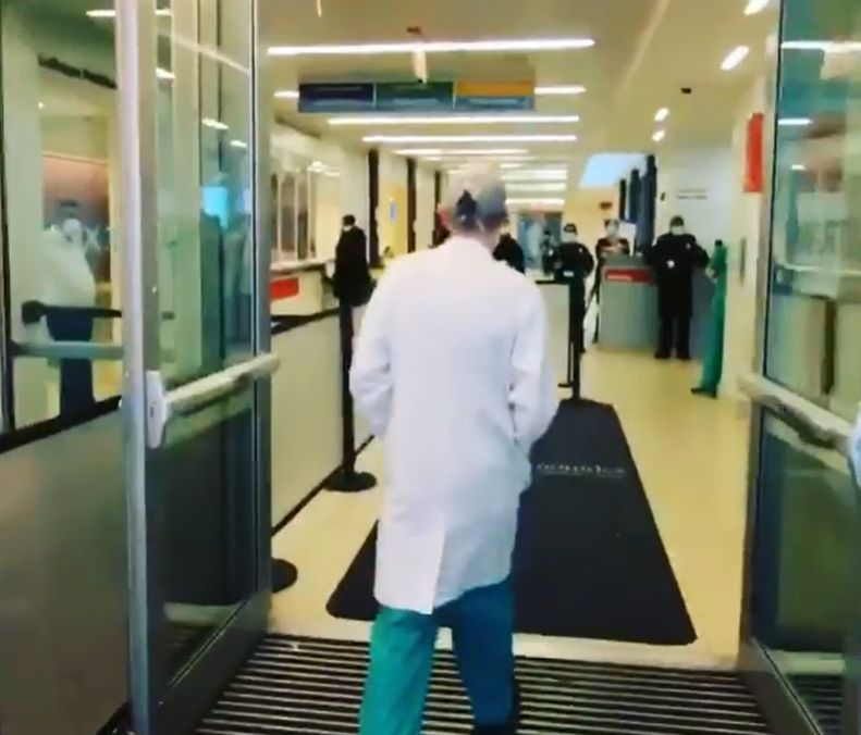doctor goes back to work after covid
