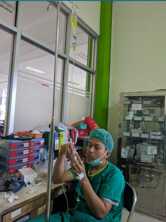 nurses on IV drip