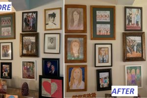 Artist Replaces Family Pictures with Drawings, Parents Only Noticed 11 Days Later