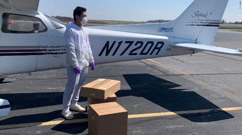student pilot fly medical supplies