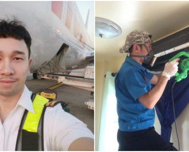 Aircraft Engineer Becomes Aircon Repairman after Losing Job Due to COVID-19