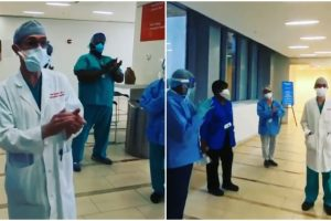 Doctor Welcomed with Applause as He Goes Back to Work after Healing from COVID-19